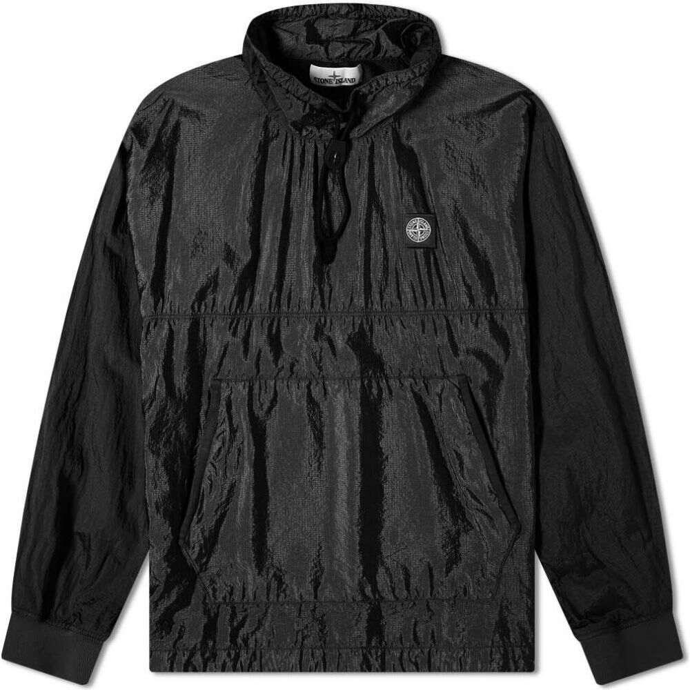 ストーンアイランド Stone Island メンズ ジャケット アウター【Garment Dyed Nylon Ripstop Metal Smock Jacket】Black