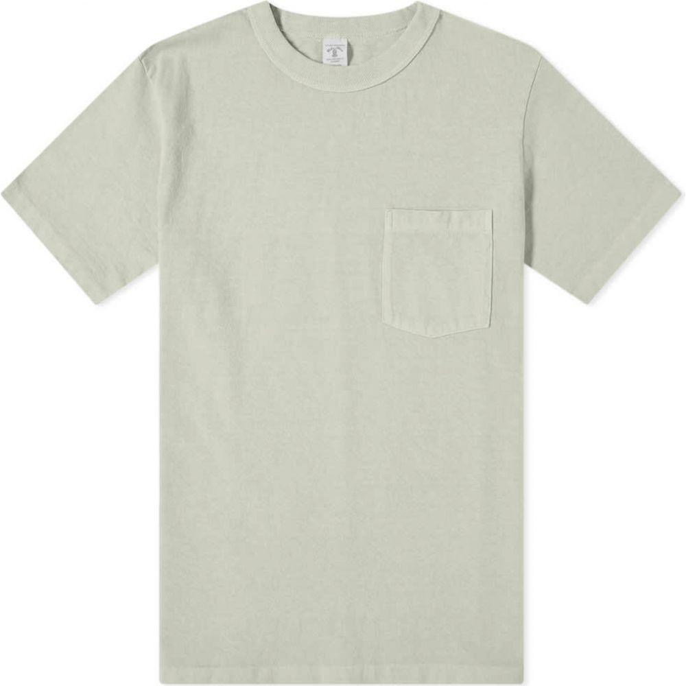 ベルバシーン Velva Sheen メンズ Tシャツ ポケット トップス【Pigment Dyed Pocket Tee】Grey