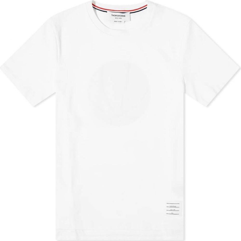 トム ブラウン Thom Browne メンズ Tシャツ トップス【Relaxed Fit Basketball Icon Tee】White