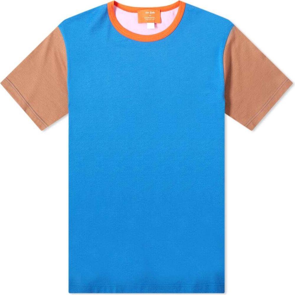 サンスペル Sunspel メンズ Tシャツ トップス【x John Booth Colour Block Tee】John Booth Colour Mix 3