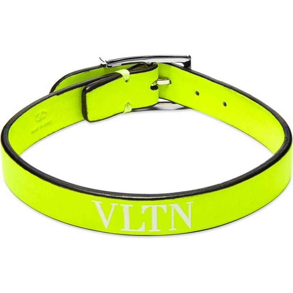 ヴァレンティノ Valentino メンズ ブレスレット ジュエリー・アクセサリー【Fluo VLTN Leather Bracelet】Yellow