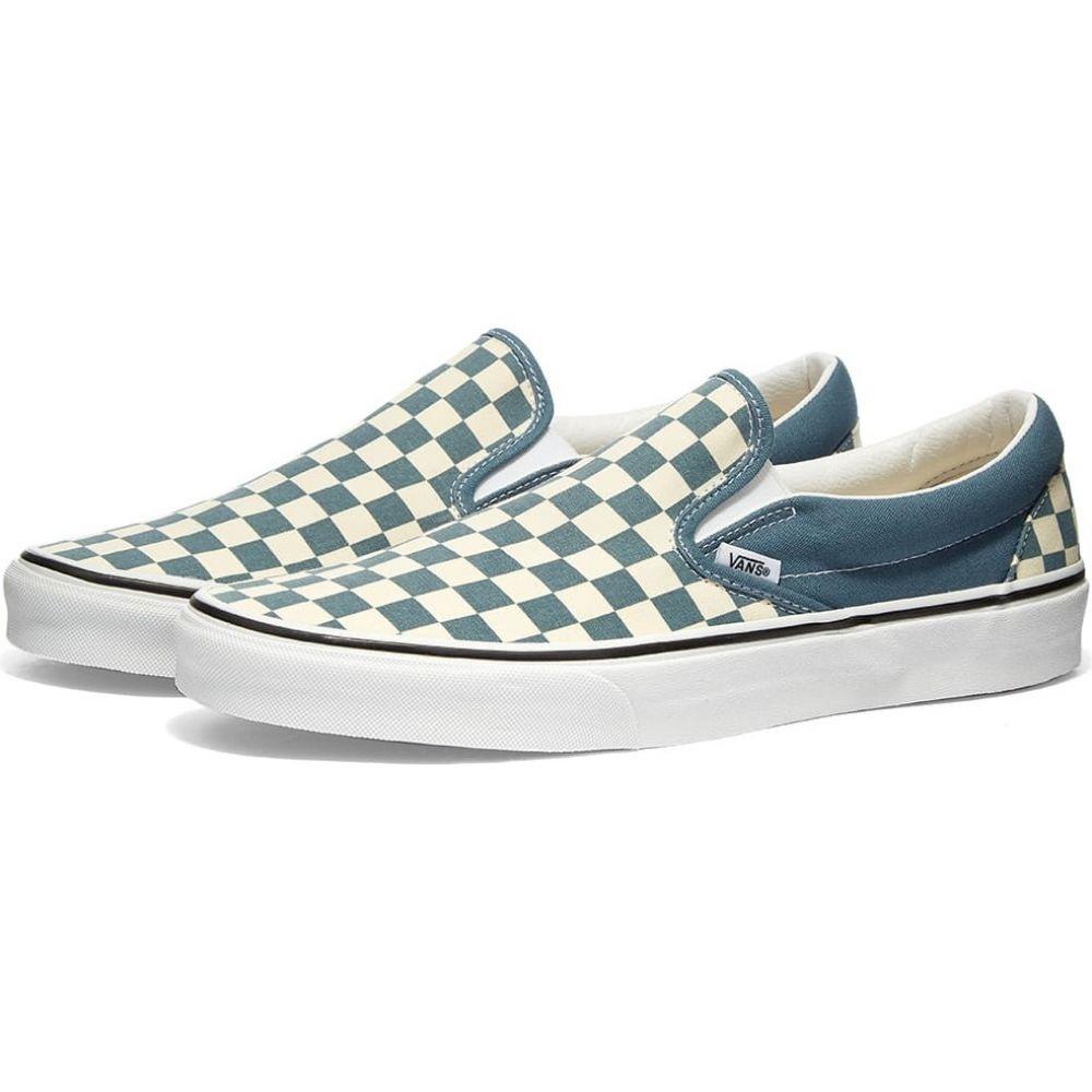 ヴァンズ Vans メンズ スリッポン・フラット シューズ・靴【UA Classic Slip-On】Blue Checkerboard Mirage