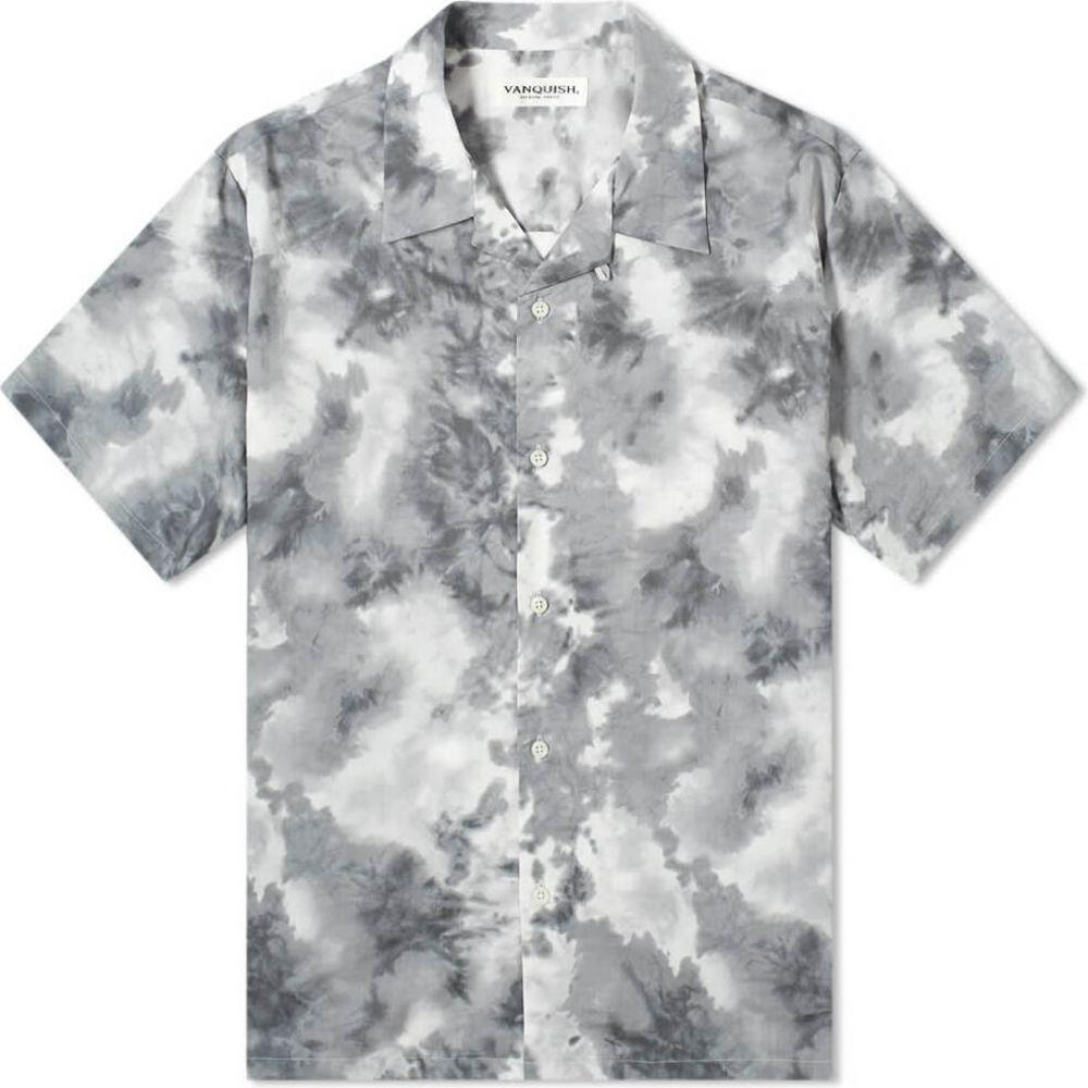 ヴァンキッシュ Vanquish メンズ 半袖シャツ トップス【Tie-Dye Open Collar Shirt】Grey