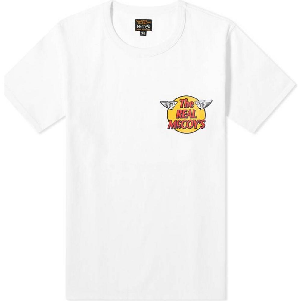 ザ リアル マッコイズ The Real McCoys メンズ Tシャツ ロゴTシャツ トップス【The Real McCoy's Logo Tee】White