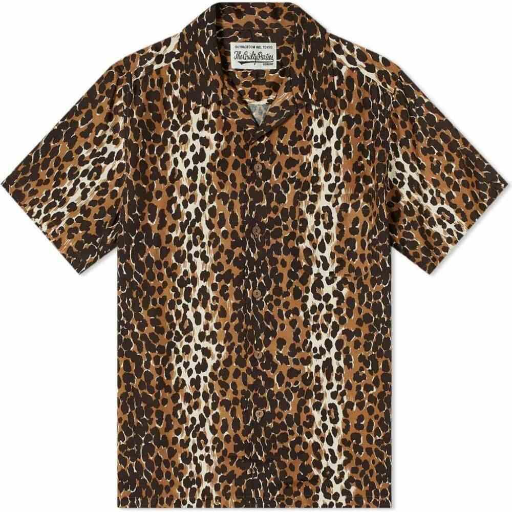ワコマリア Wacko Maria メンズ 半袖シャツ アロハシャツ トップス【Hawaiian Leopard Shirt】Beige