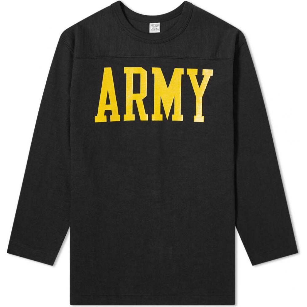 ザ リアル マッコイズ The Real McCoys メンズ Tシャツ トップス【The Real McCoy's Army Military Football Tee】Black