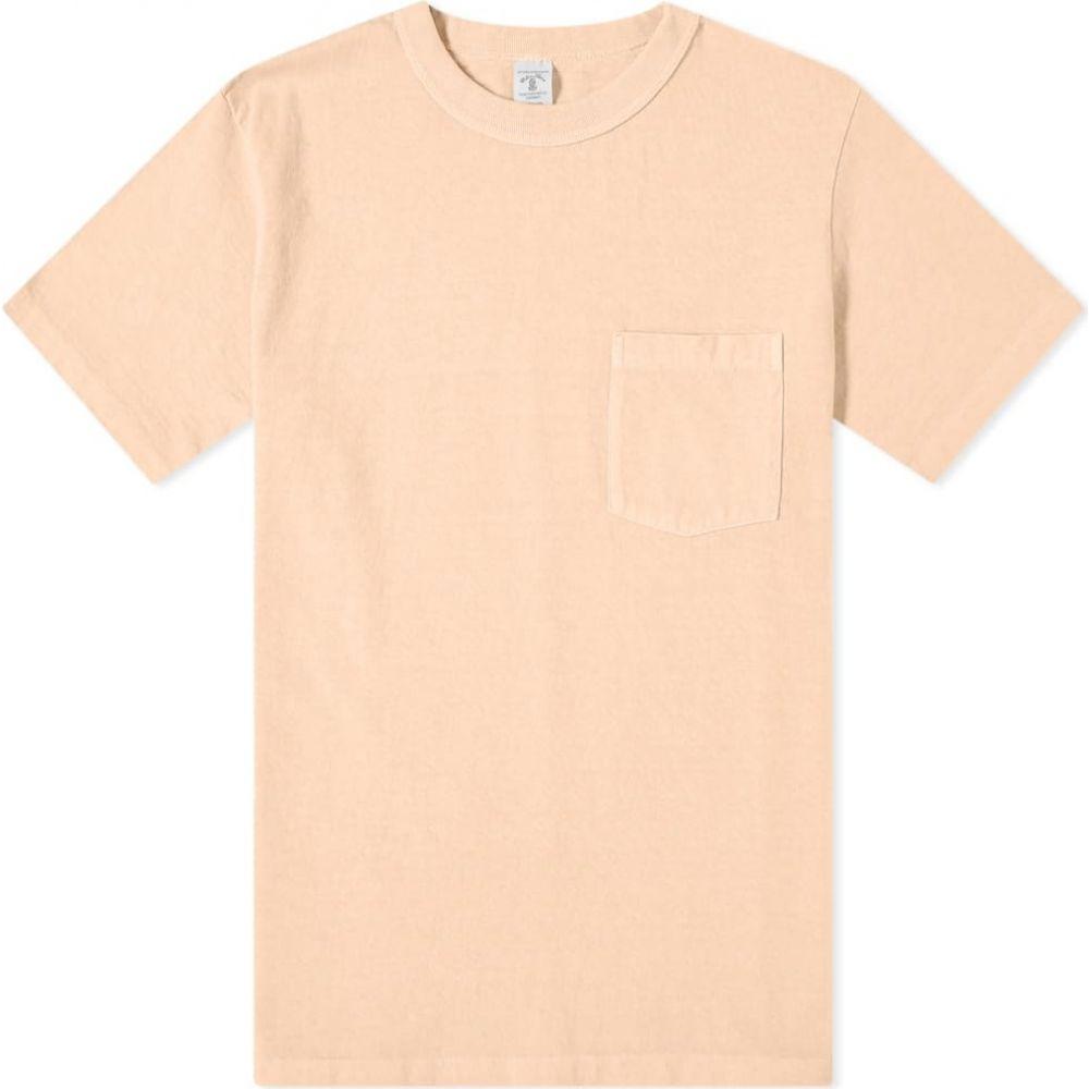 ベルバシーン Velva Sheen メンズ Tシャツ ポケット トップス【Pigment Dyed Pocket Tee】Sunrise