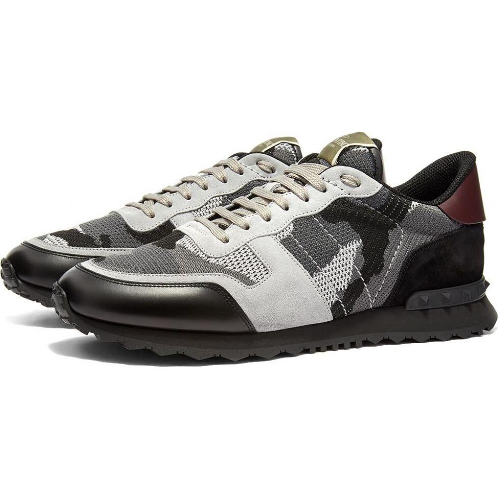 ヴァレンティノ Valentino メンズ スニーカー シューズ・靴【Flyknit Rockrunner Sneaker】Black/Grey/Blue
