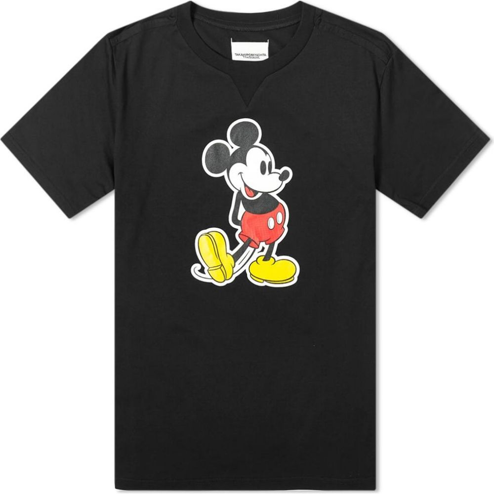 タカヒロミヤシタザソロイスト TAKAHIROMIYASHITA TheSoloist. メンズ Tシャツ トップス【Mickey Mouse Tee】Black Original