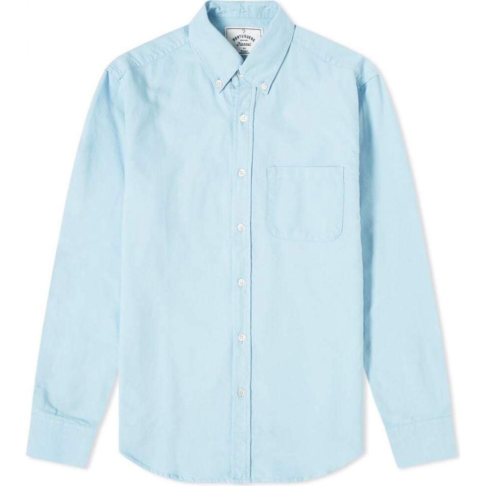 ポーチュギースフランネル Portuguese Flannel メンズ シャツ フランネルシャツ トップス【Button Down Belavista Oxford Shirt】Sky
