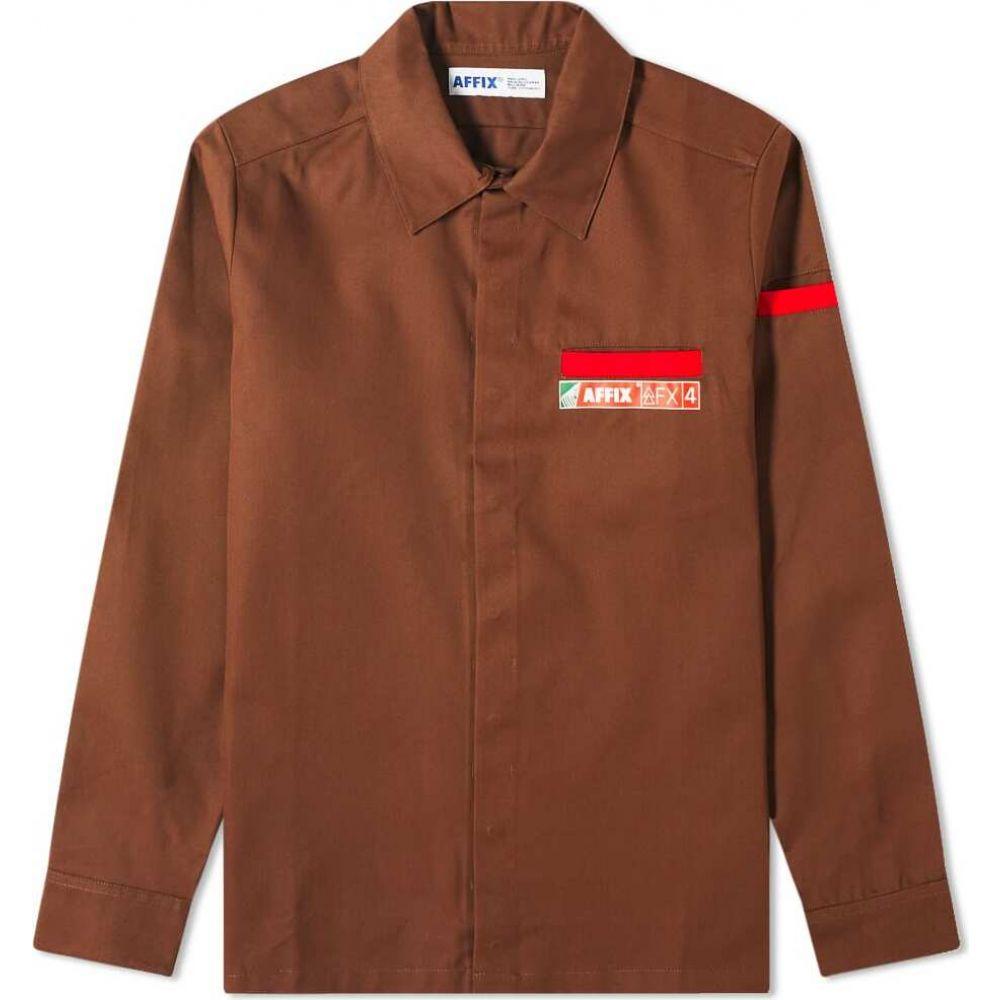 アフィクス AFFIX メンズ シャツ トップス【Beach Shirt】Brown