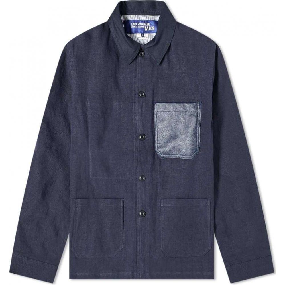 ジュンヤ ワタナベ Junya Watanabe MAN メンズ レザージャケット アウター【Leather Pocket Jacket】Navy