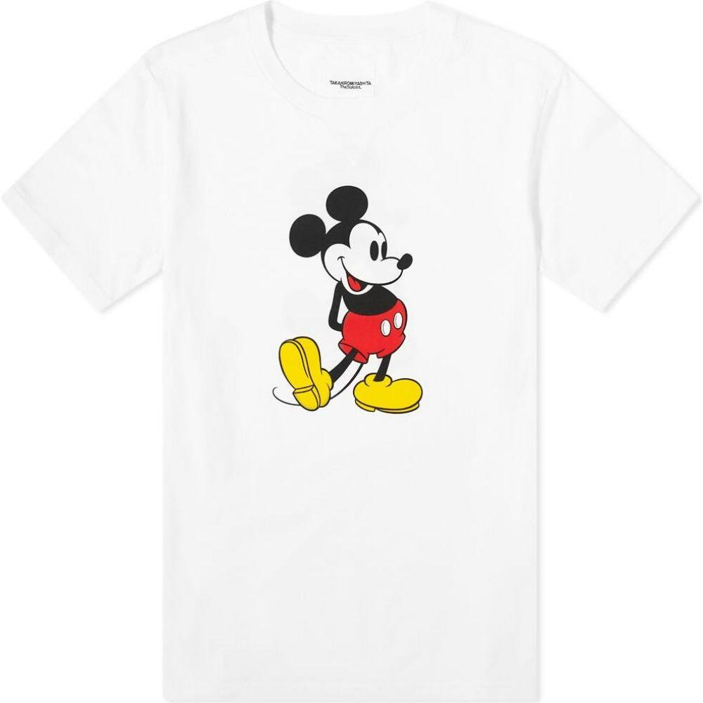 タカヒロミヤシタザソロイスト TAKAHIROMIYASHITA TheSoloist. メンズ Tシャツ トップス【Mickey Mouse Tee】White Original