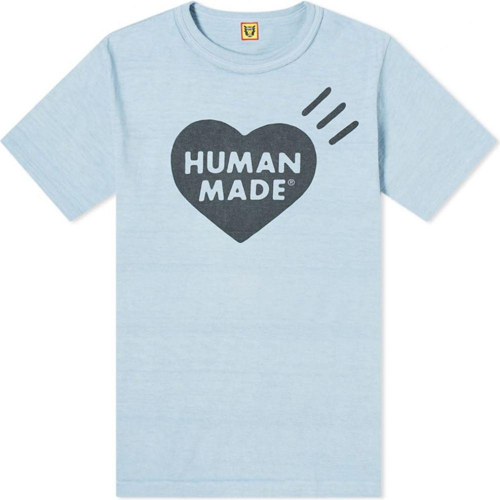 ヒューマンメイド Human Made メンズ Tシャツ ロゴTシャツ トップス【Bold Heart Logo Tee】Blue
