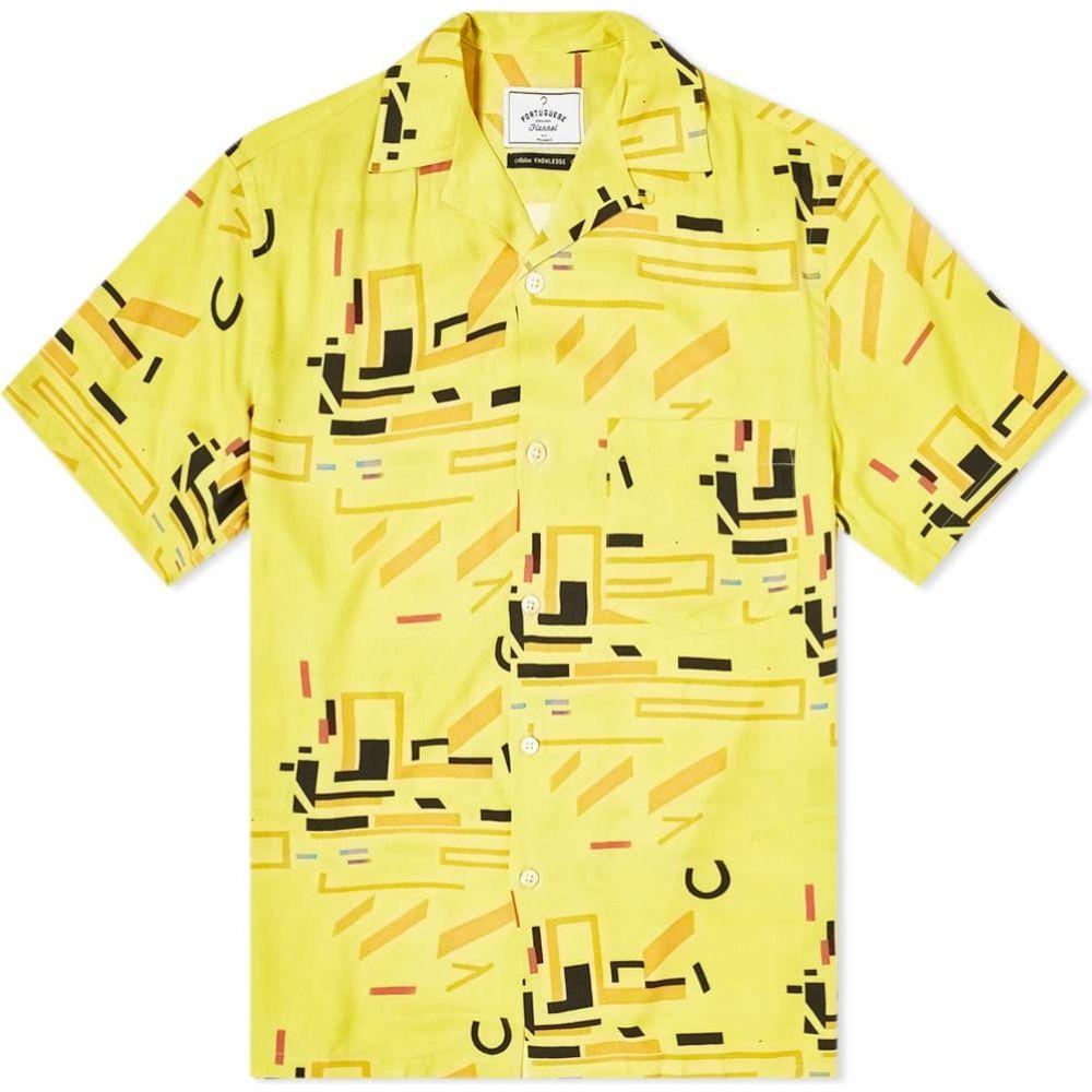ポーチュギースフランネル Portuguese Flannel メンズ 半袖シャツ フランネルシャツ トップス【Geometry Two Vacation Shirt】Yellow