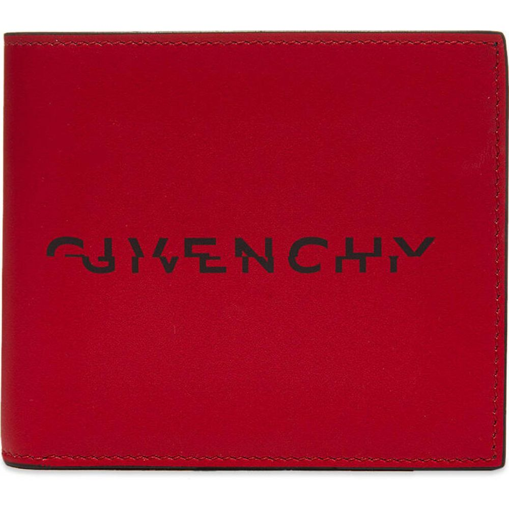 ジバンシー Givenchy メンズ 財布 二つ折り【Split Logo Billfold Wallet】Red/Black