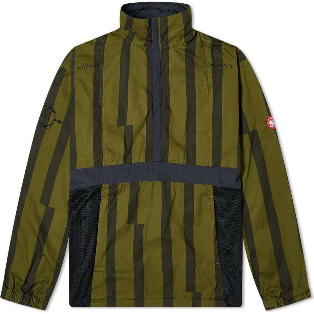シーイー Cav Empt メンズ ジャケット アウター【Striped Popover Jacket】Green