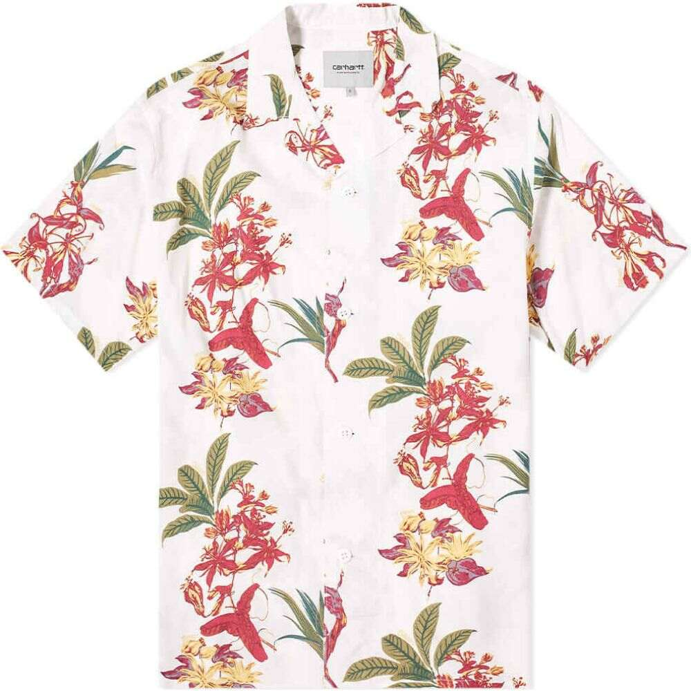 カーハート Carhartt WIP メンズ 半袖シャツ アロハシャツ トップス【Hawaiian Floral Vacation Shirt】Hawaiian Floral Print/White