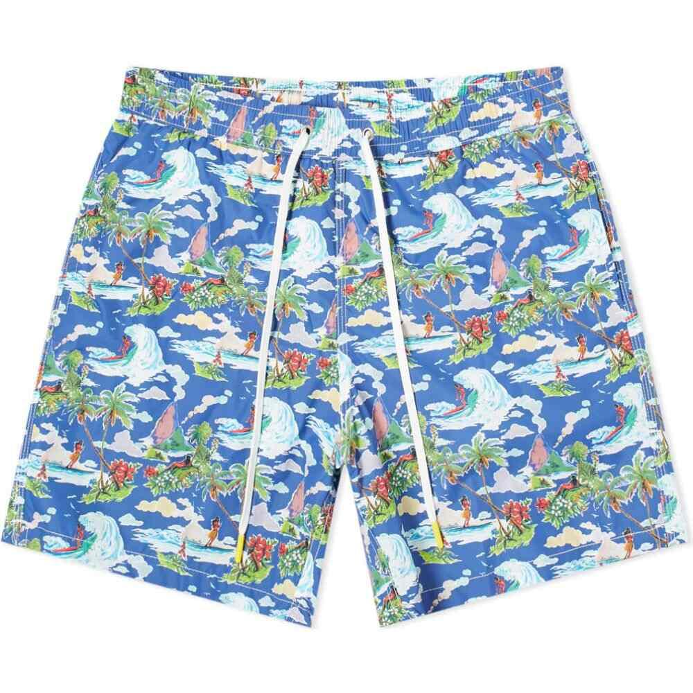 ハートフォード Hartford メンズ 海パン 水着・ビーチウェア【Surfer Print Swim Short】Navy