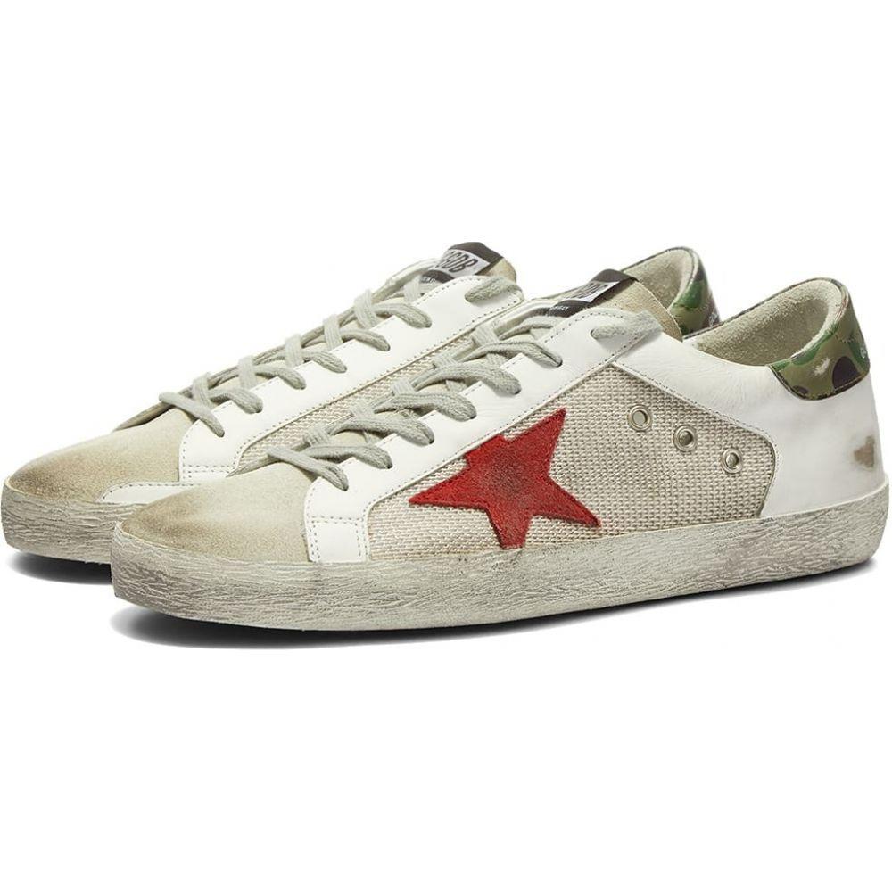 ゴールデン グース Golden Goose メンズ スニーカー シューズ・靴【Superstar Leather Mesh Sneaker】White/Red