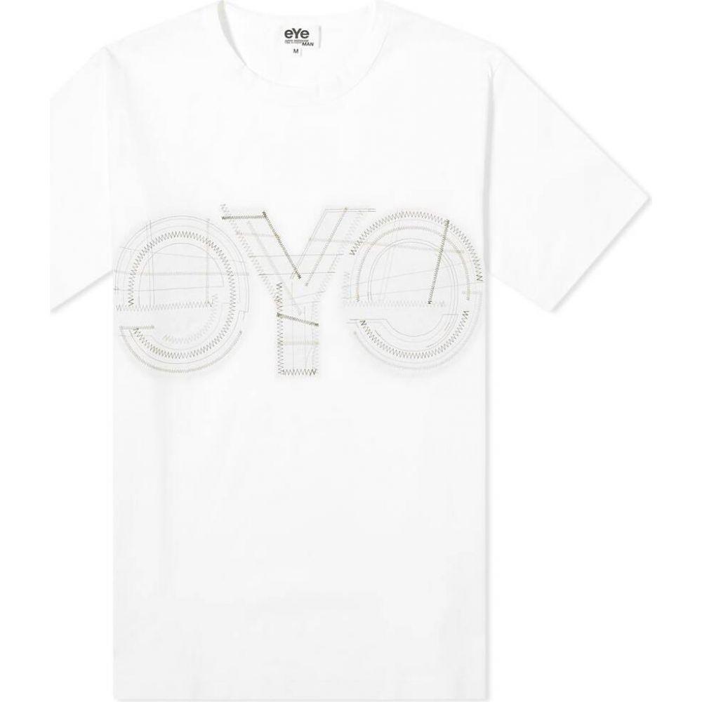 ジュンヤ ワタナベ Junya Watanabe MAN メンズ Tシャツ ロゴTシャツ トップス【eYe Stitch Logo Tee】White