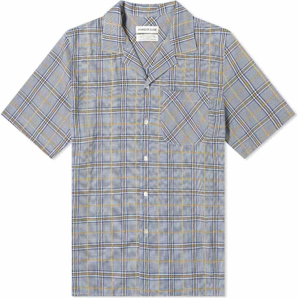 ア カインド オブ ガイズ A Kind of Guise メンズ シャツ トップス【Gioia Shirt】Blue Check