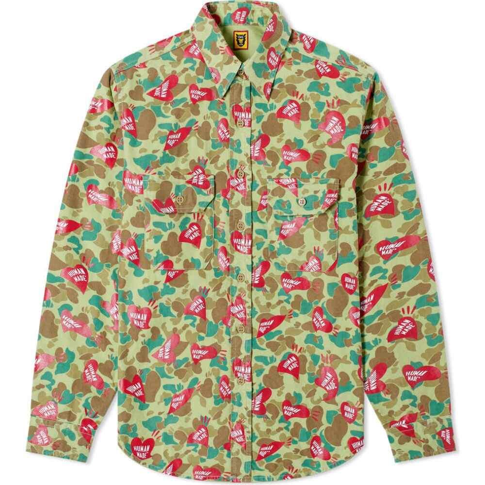 ヒューマンメイド Human Made メンズ シャツ トップス【Heart Camo Shirt】Olive Drab
