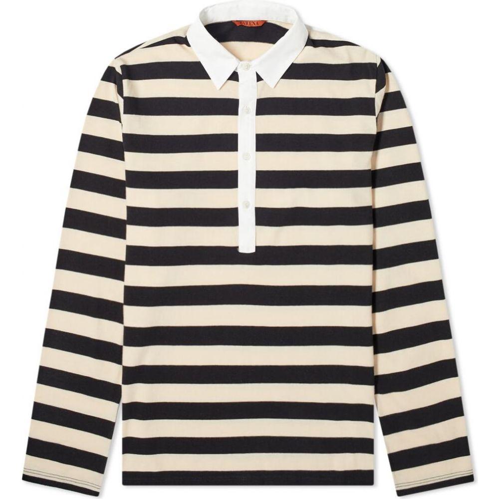 バレナ Barena メンズ ポロシャツ トップス【Saraca Striped Rugby Shirt】Ecru