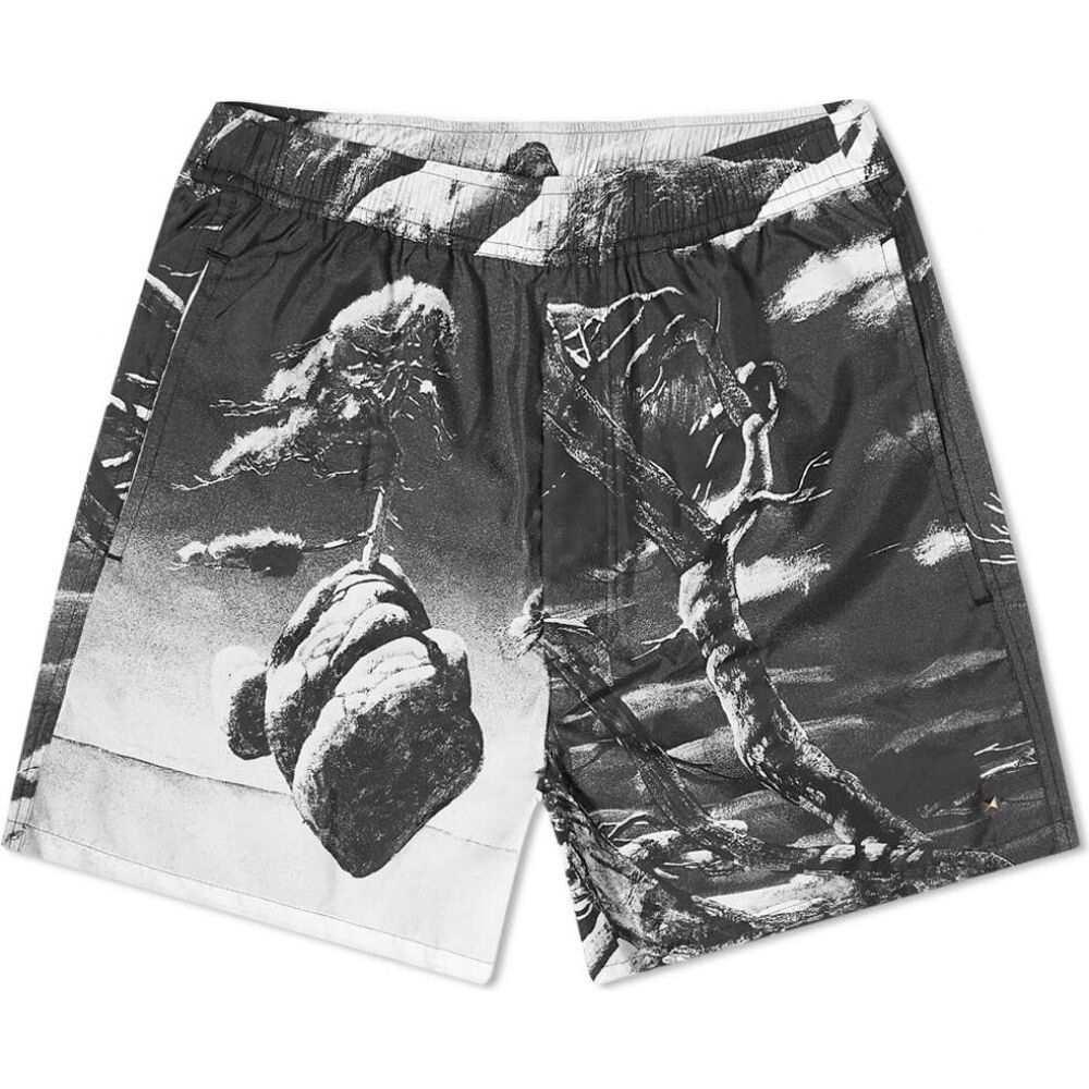 ヴァレンティノ Valentino メンズ 海パン 水着・ビーチウェア【x Roger Dean Tonal Floating Island Swim Short】Black/White