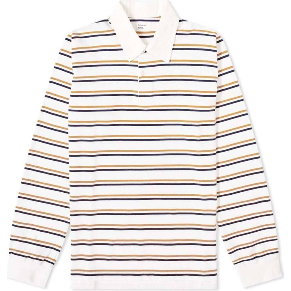 ユニバーサルワークス Universal Works メンズ ポロシャツ トップス【Rugby Shirt】Ecru