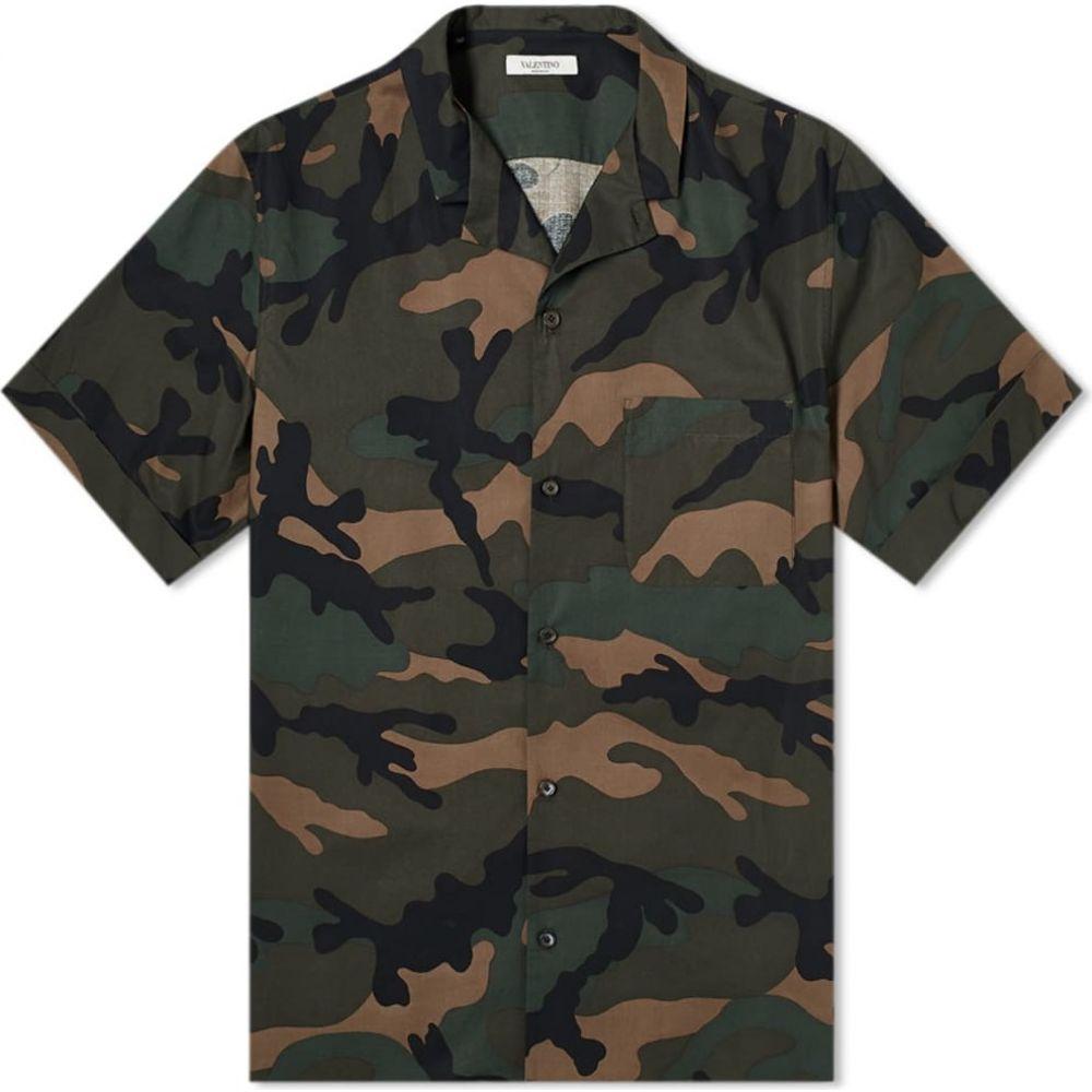 ヴァレンティノ Valentino メンズ 半袖シャツ トップス【Camo Vacation Shirt】Army Camo