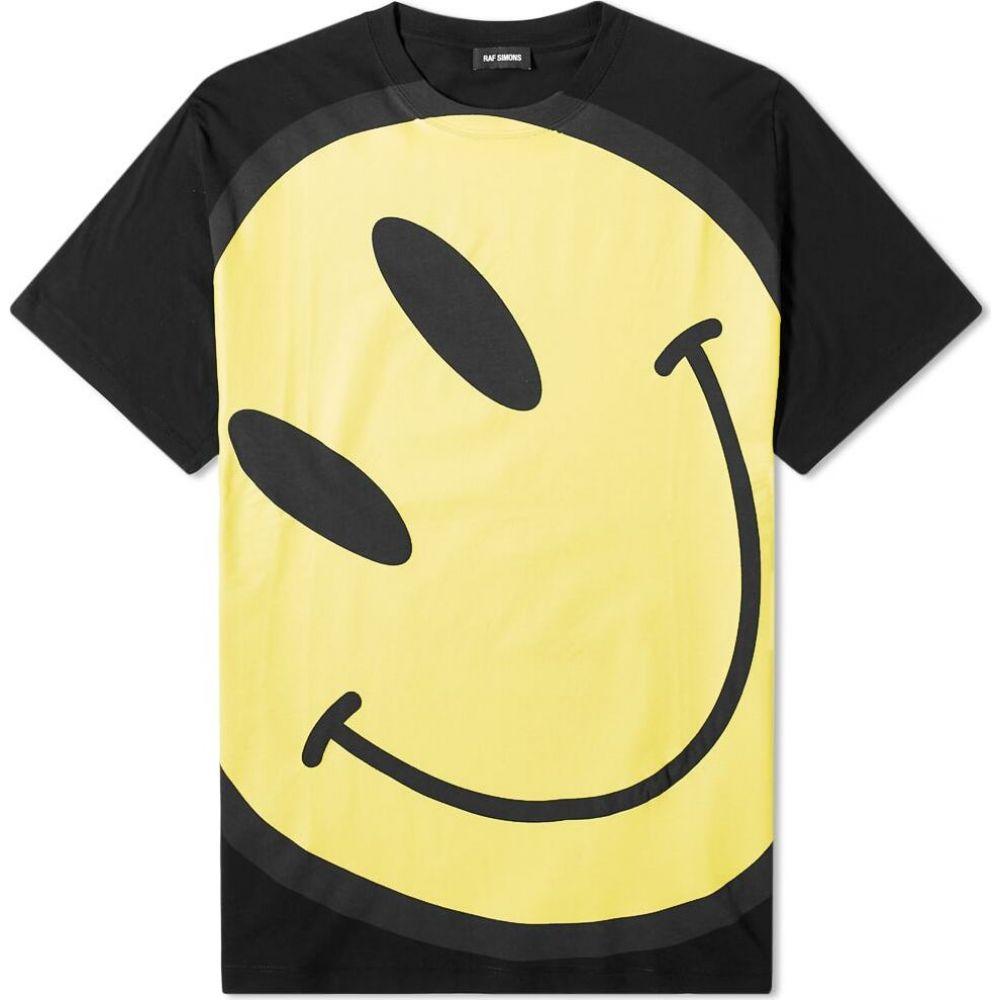 ラフ シモンズ Raf Simons メンズ Tシャツ トップス【Smiley Oversized Tee】Black