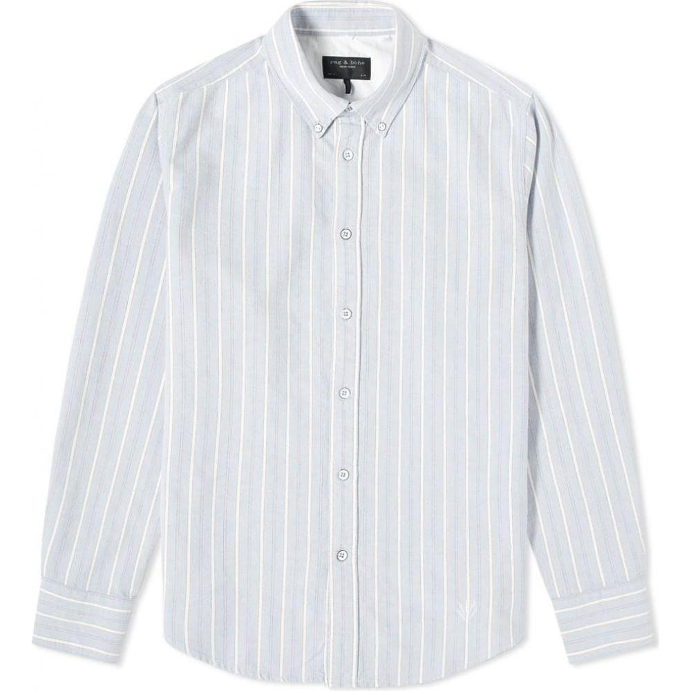 ラグ&ボーン Rag & Bone メンズ シャツ トップス【Button Down Tomlin Oxford Shirt】Blue Stripe