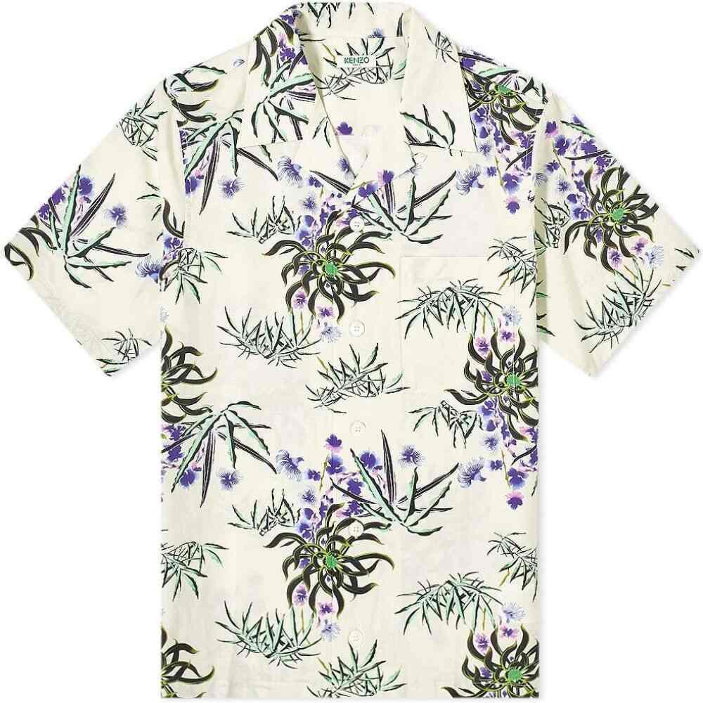ケンゾー Kenzo メンズ 半袖シャツ トップス【Flower Casual Vacation Shirt】Off White
