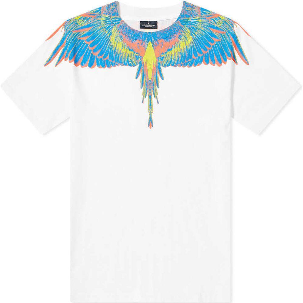 マルセロバーロン Marcelo Burlon メンズ Tシャツ トップス【Wings Shoulder Tee】White/Multi