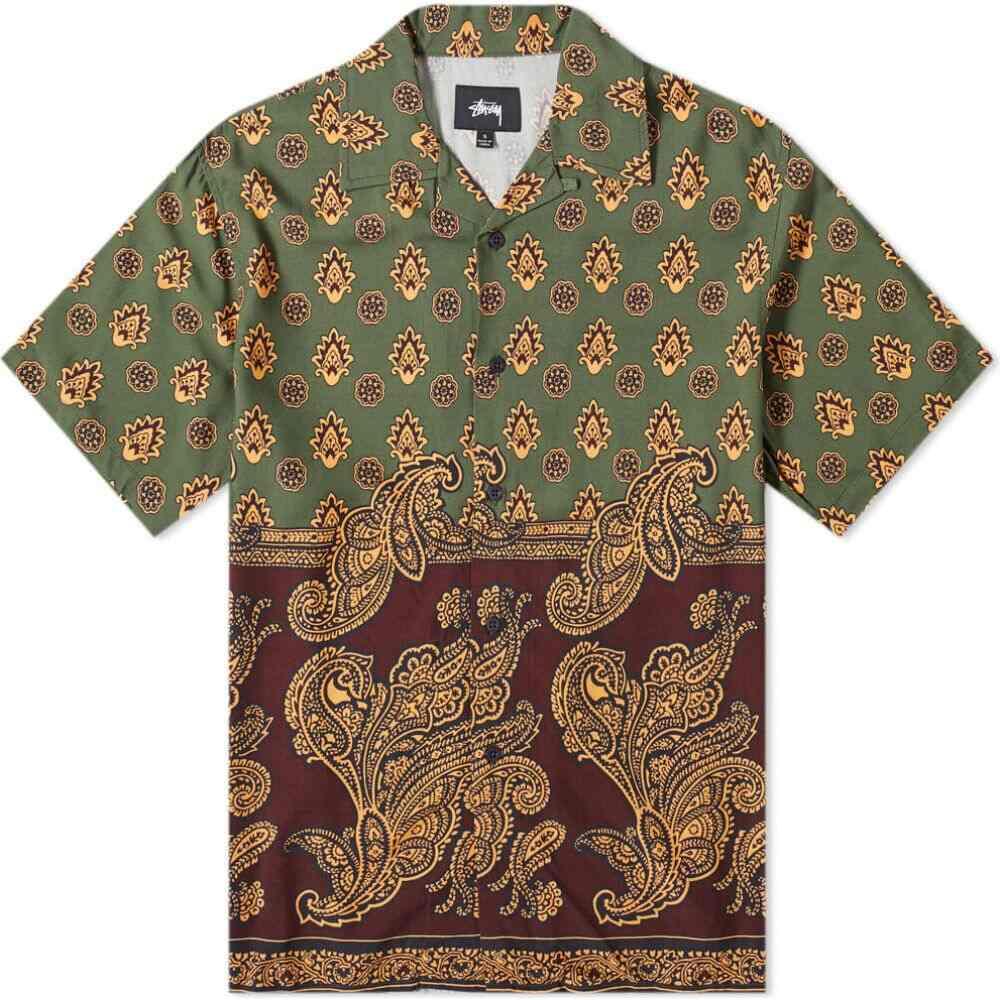 ステューシー Stussy メンズ スウェット・ジャージ ボトムス・パンツ【Block Paisley Shirt】Burgundy