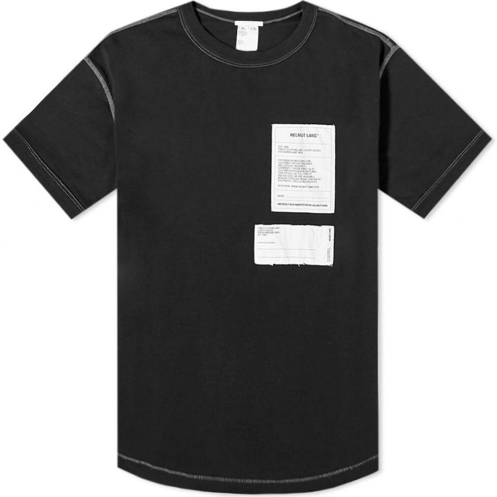 ヘルムート ラング Helmut Lang メンズ Tシャツ ロゴTシャツ トップス【Patch Logo Tee】Basalt Black