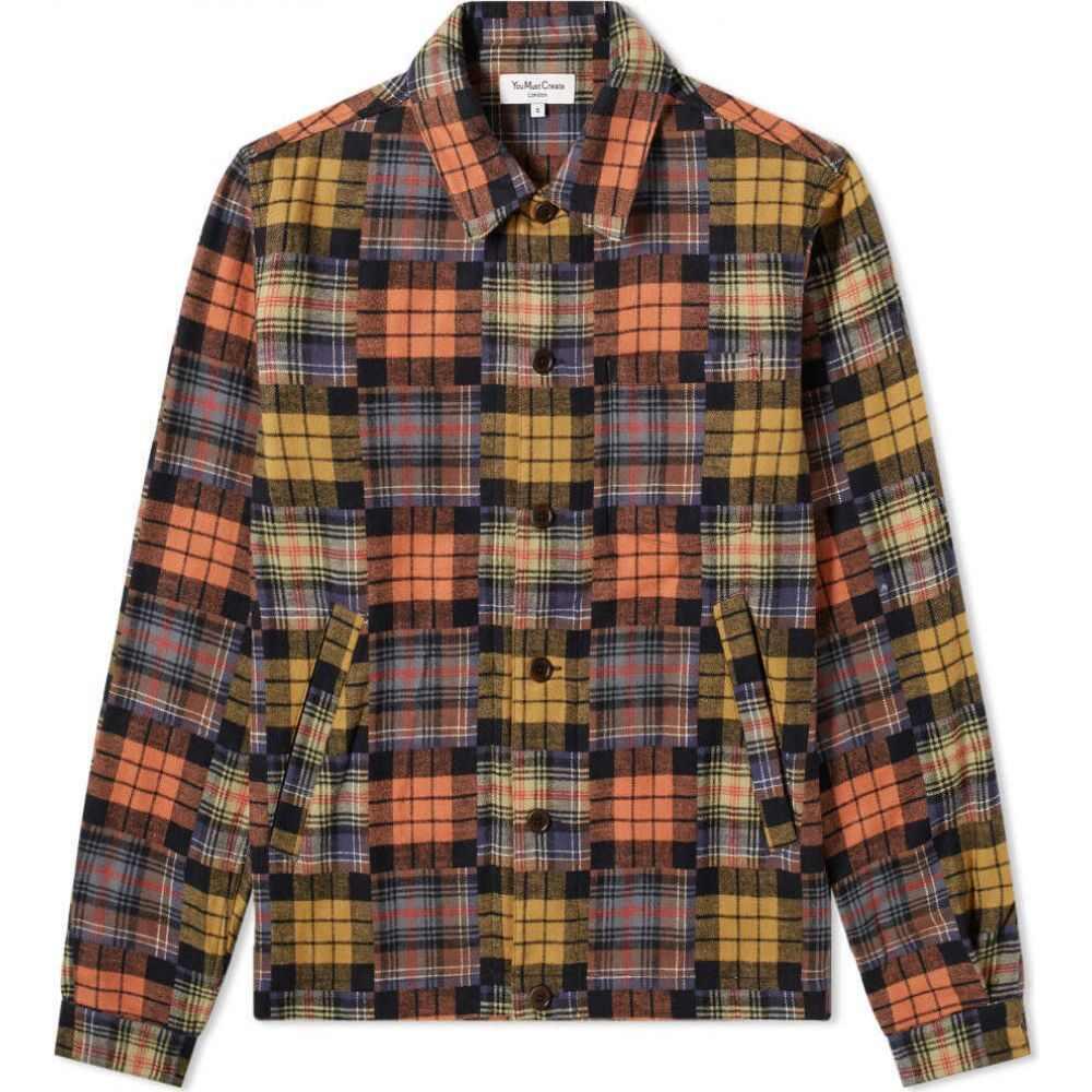 ワイエムシー YMC メンズ シャツ オーバーシャツ トップス【Patchwork Overshirt】Multi