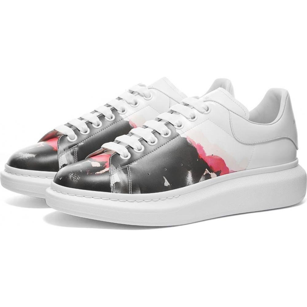 アレキサンダー マックイーン Alexander McQueen メンズ スニーカー ウェッジソール シューズ・靴【Paint Wedge Sole Sneaker】White/Multi Pink