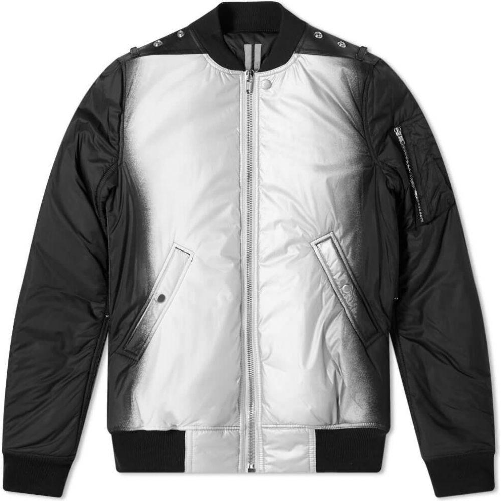 リック オウエンス Rick Owens メンズ ブルゾン ミリタリージャケット フライトジャケット アウター【Flight Bomber Jacket】Black/Silver