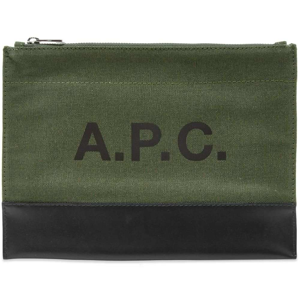 アーペーセー A.P.C. メンズ ポーチ 【axel logo pouch】Olive Green