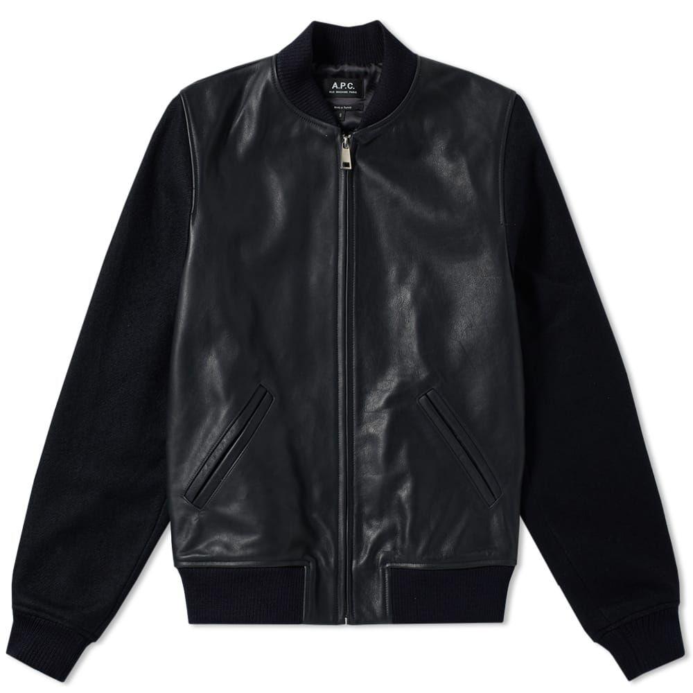 アーペーセー A.P.C. メンズ ブルゾン ミリタリージャケット アウター【iron bomber jacket】Dark Navy