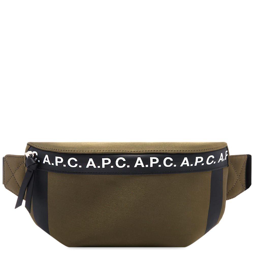 アーペーセー A.P.C. メンズ ボディバッグ・ウエストポーチ バッグ【taped seam waist bag】Khaki