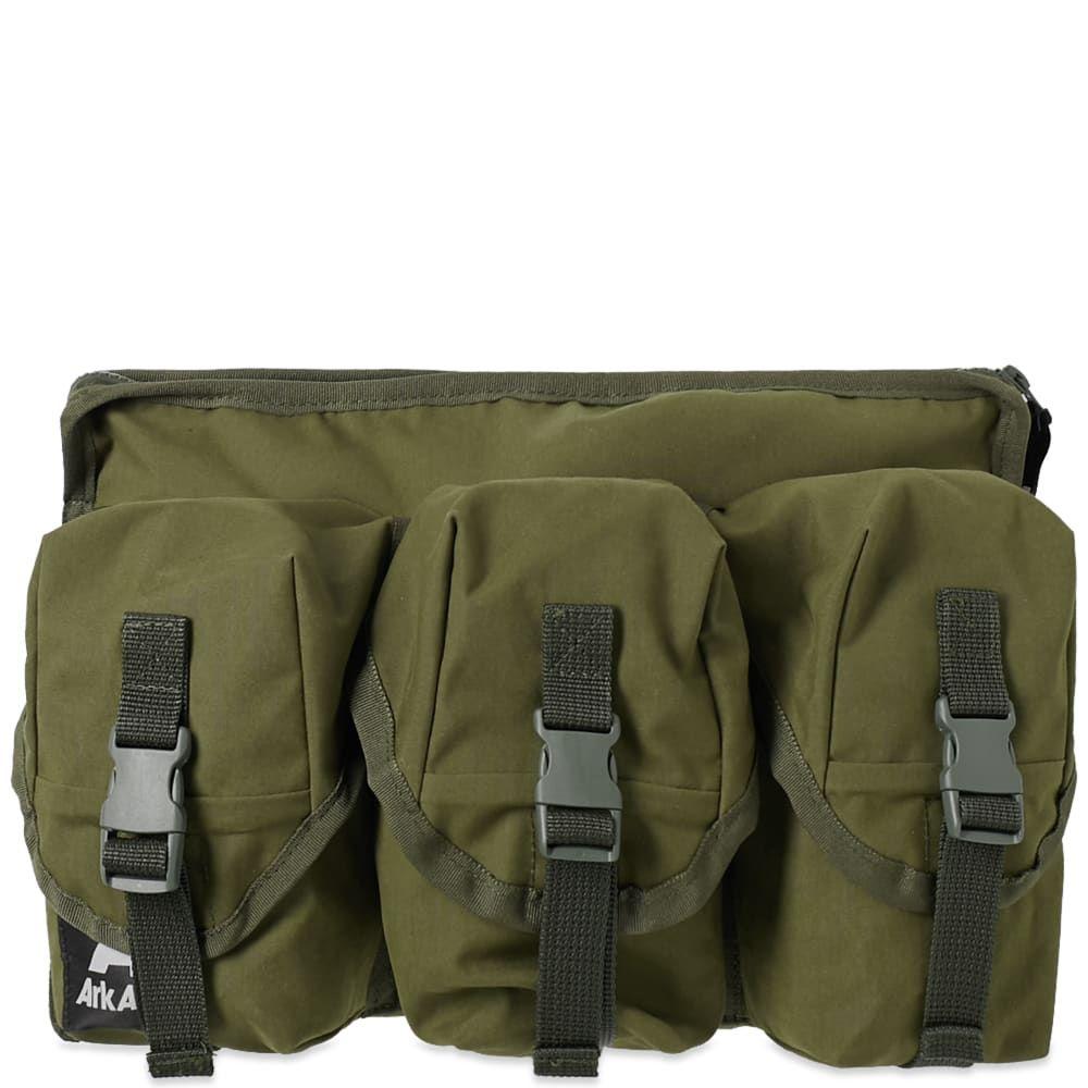 アークエアー Ark Air メンズ ボディバッグ・ウエストポーチ バッグ【3 pocket waist bag】Olive