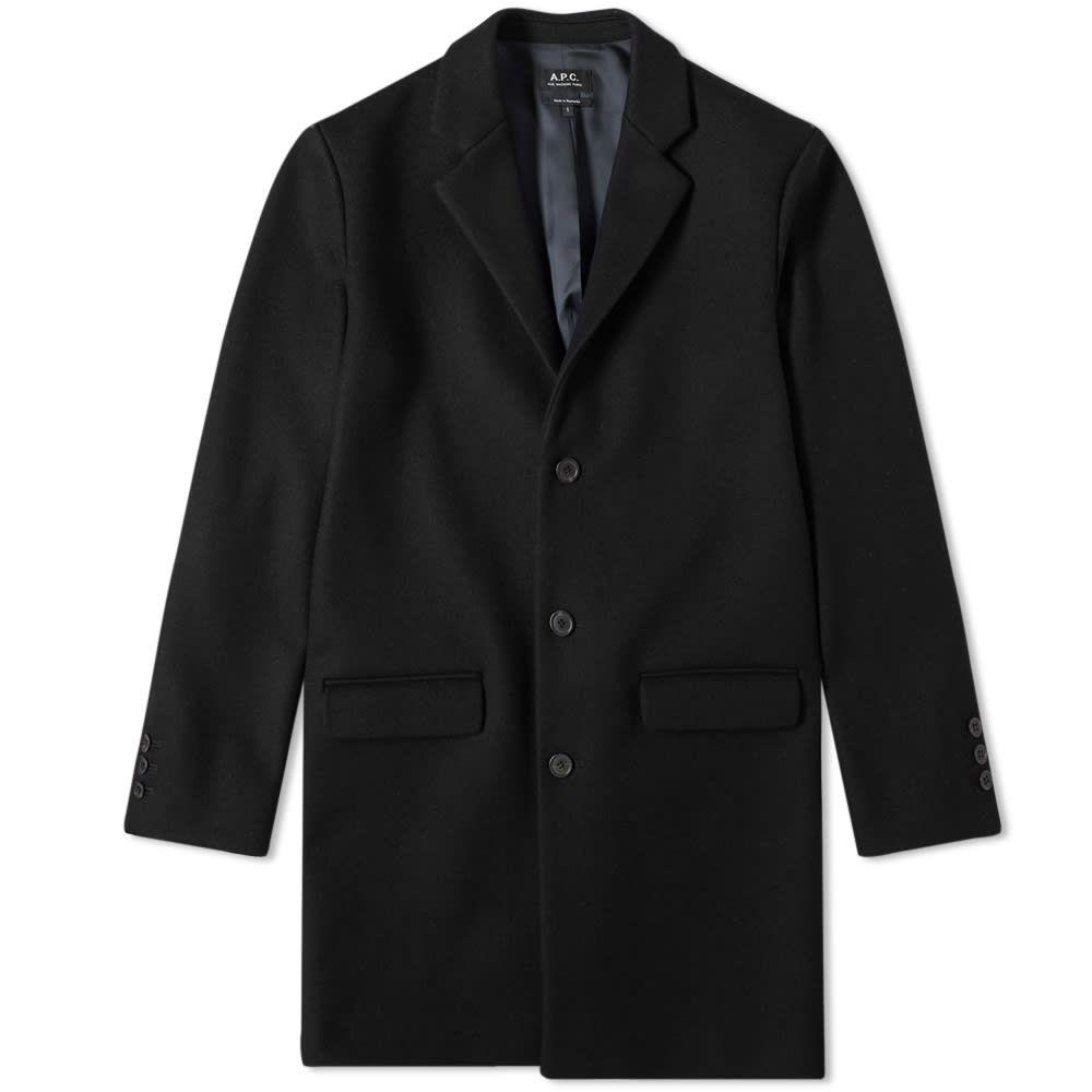 アーペーセー A.P.C. メンズ コート チェスターフィールドコート アウター【wool chesterfield coat】Black