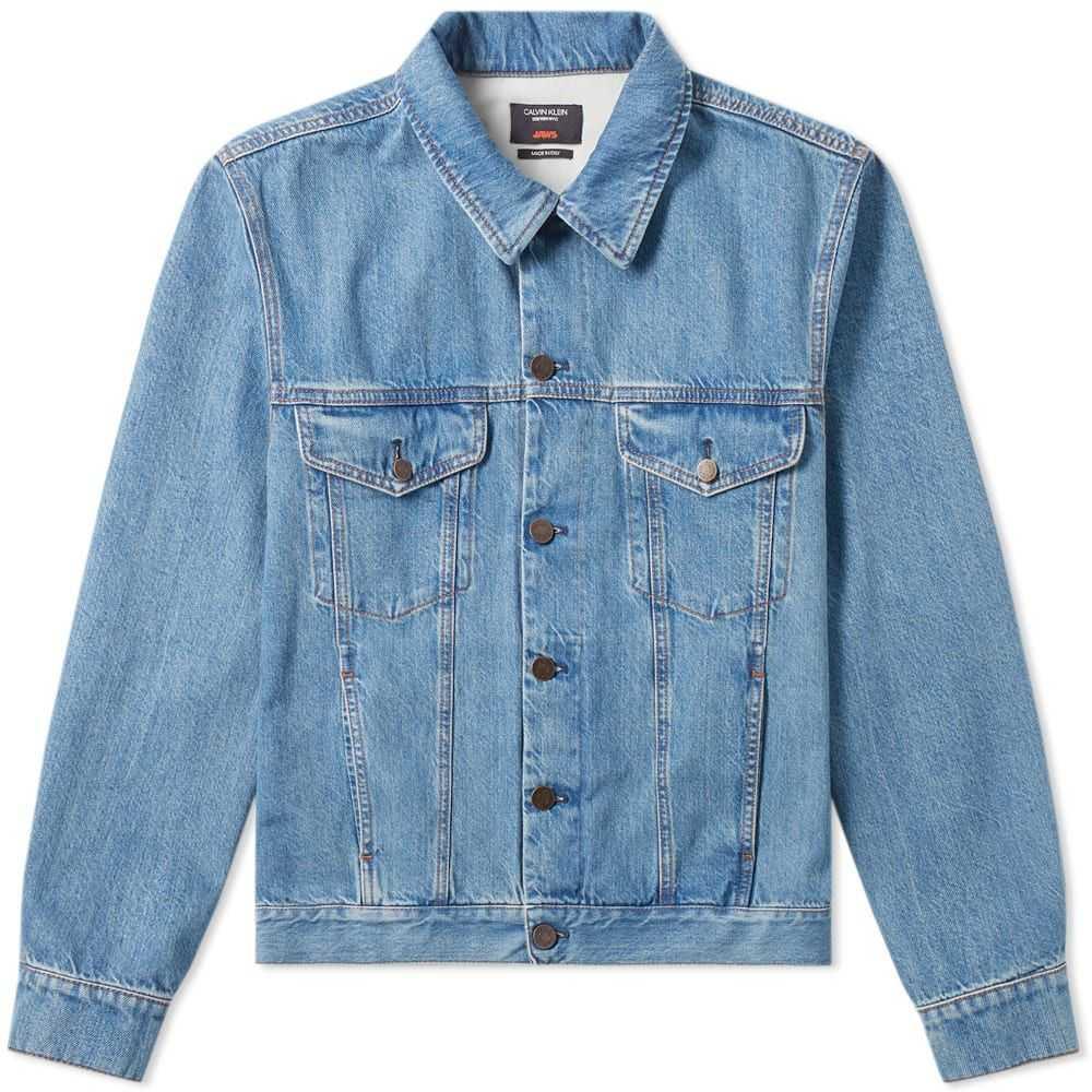 カルバンクライン Calvin Klein 205W39NYC メンズ ジャケット Gジャン アウター【jaws back print denim jacket】Blue