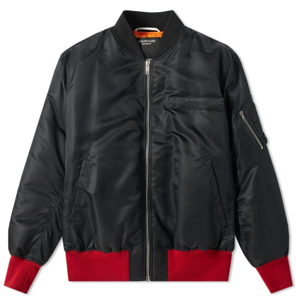 カルバンクライン Calvin Klein 205W39NYC メンズ ブルゾン ミリタリージャケット アウター【back print bomber jacket】Black