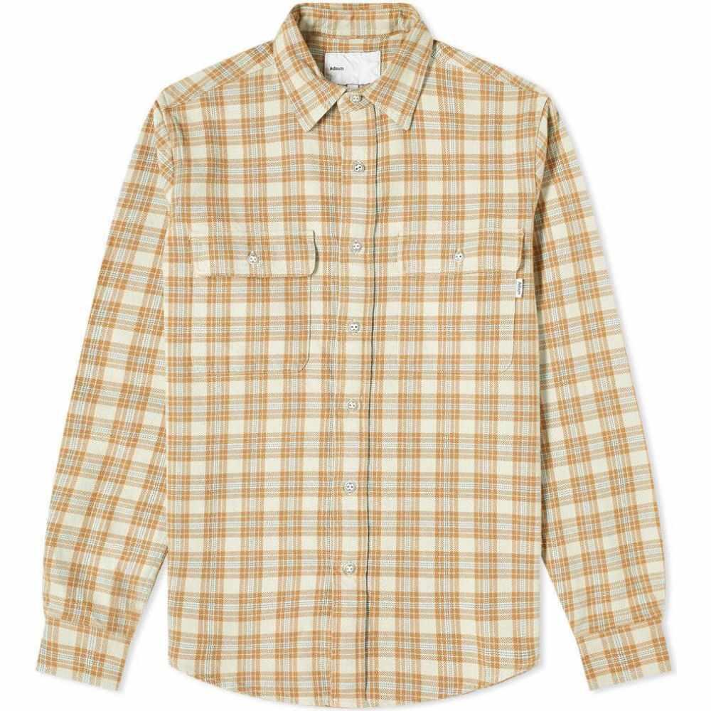 アドサム Adsum メンズ シャツ ワークシャツ トップス【Oatmeal Plaid Workshirt】Stone/Brown