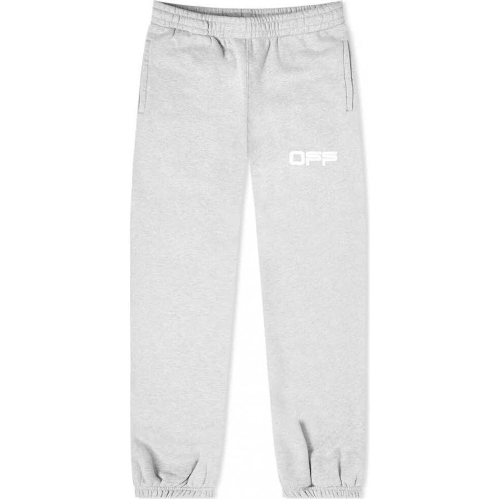 オフホワイト Off-White メンズ スウェット・ジャージ ボトムス・パンツ【Airport Tape Slim Sweat Pant】Grey Marl