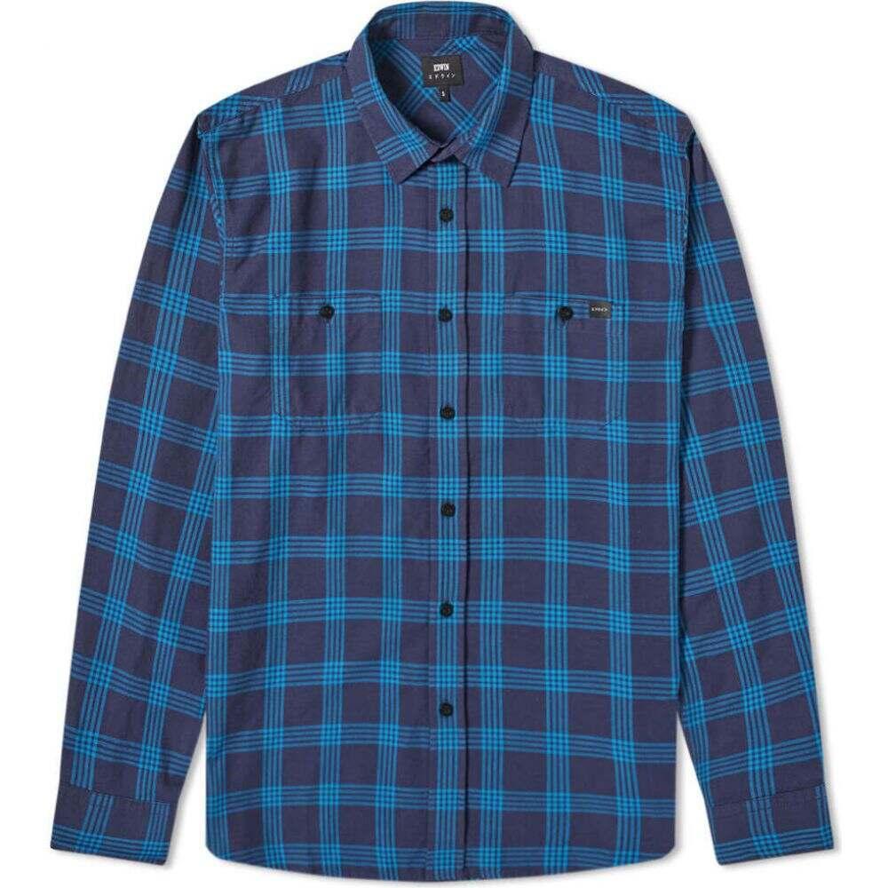 エドウィン Edwin メンズ シャツ トップス【Labour Shirt】Navy/Saxony Blue